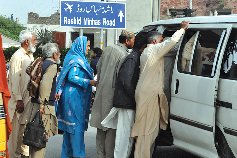 lawlessness at the bus stations has left commuters desperately looking for affordable transport photos muhammad javaid waseem nazir zafar aslam express