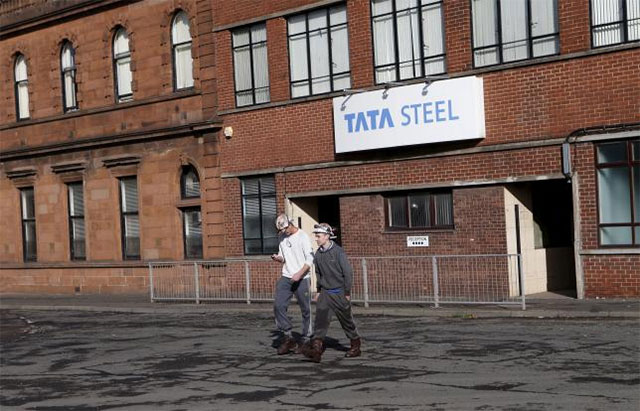 tata steel bought anglo dutch steelmaker corus in 2007 and has since struggled to turn the giant around photo reuters