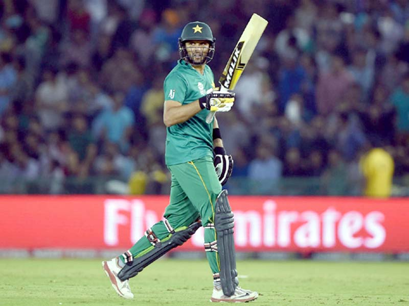 this file photo shows pakistan skipper shahid afridi walking back to the pavilion after being dismissed by new zealand s ish sodhi in their super 10 group 2 world t20 encounter photo afp
