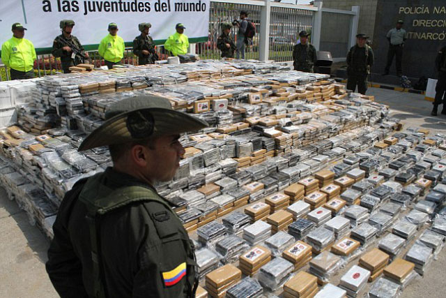 investigators said that a drug trafficking network was stockpiling the cocaine to eventually ship it aboard the torpedo craft to central america photo ap