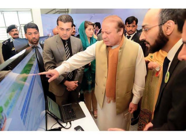 prime minister nawaz sharif is being briefed at the launching of national health programme in islamabad on december 31 2015 photo inp