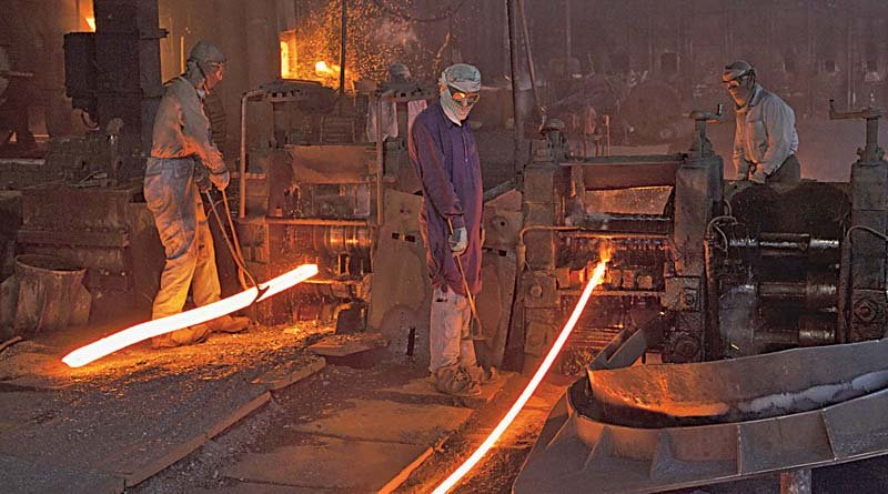 import substitution begins in steel sector
