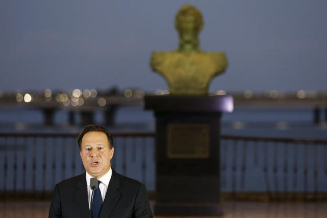 panama president juan carlos varela delivers a speech to the nation after a meeting with various ambassadors to panama at the foreign affairs building in panama city april 6 2016 photo reuters