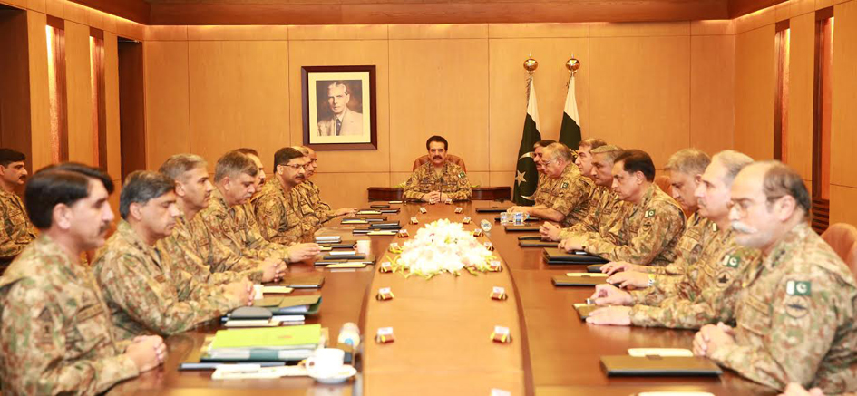 a file photo of a corps commander conference at the ghq in rawalpindi photo ispr