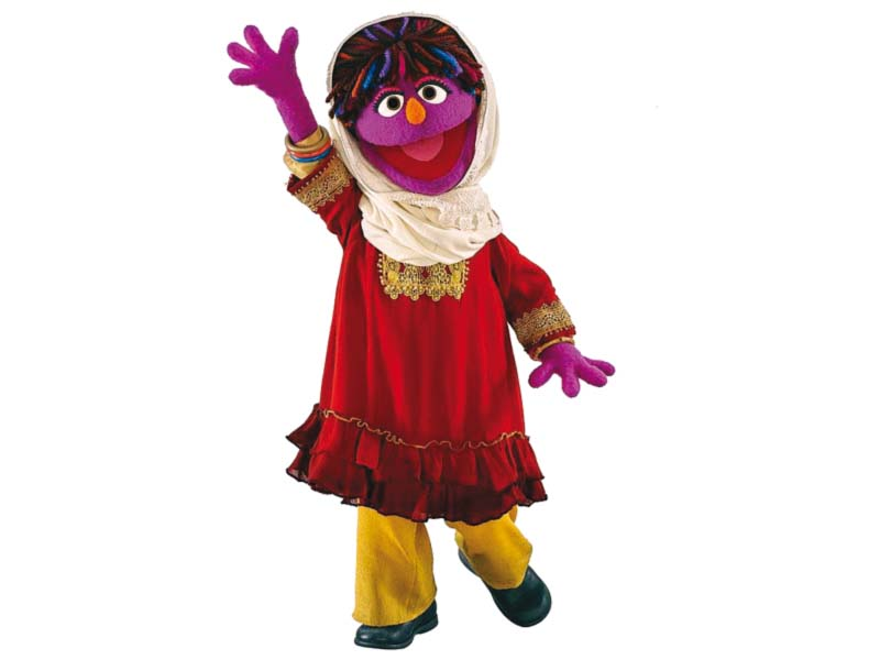 the sesame street afghan muppet zari made her debut on thursday on the fifth season of baghch e simsim photo reuters