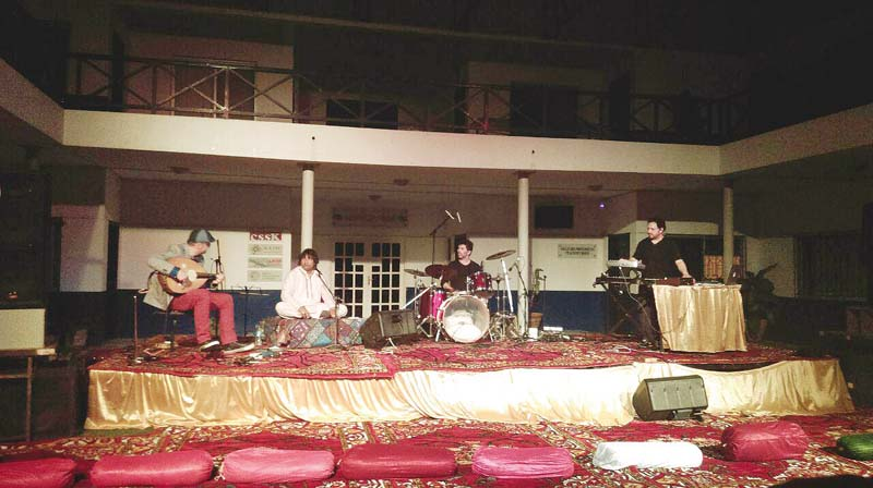 the concert saw an unusual yet pleasant blend of french pop and qawwali photo express
