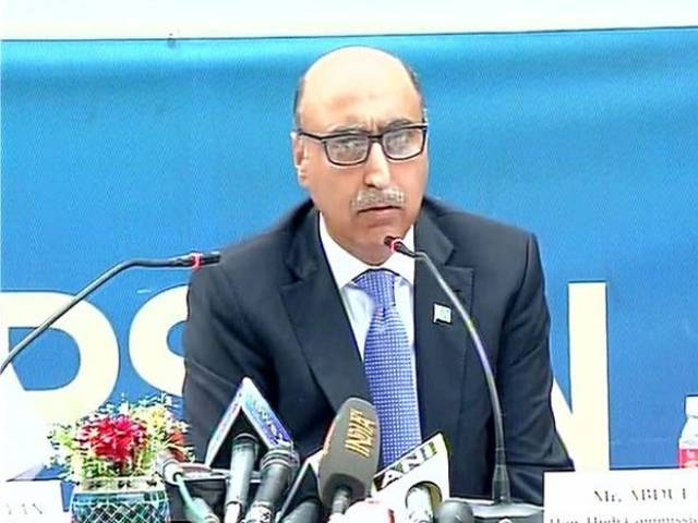 pakistan high commissioner to india addressing a press conference in new delhi on april 7 2016 photo twitter aninews