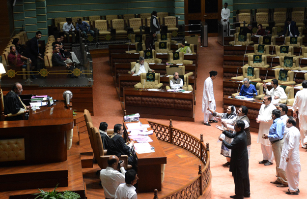 on going sindh assembly session photo express