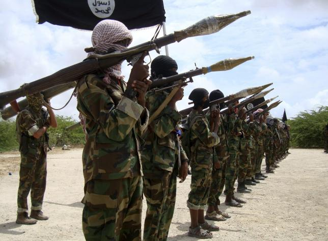 file photo of al shabaab militants parading new recruits after arriving in mogadishu photo reuters