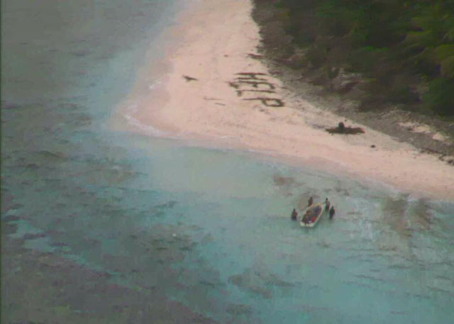 picture shows pacific island of fanadik where the three men were rescued from photo us coast guard hawaii pacific