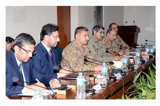 senior military and civil officials of punjab attend joint operations coordination committee photo ppi