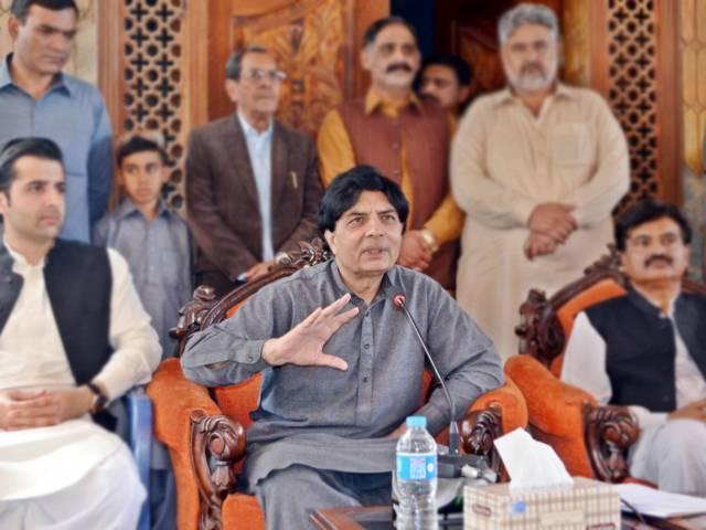 interior minister chaudhry nisar ali khan addressing the media in rawalpindi on april 9 2016 photo inp