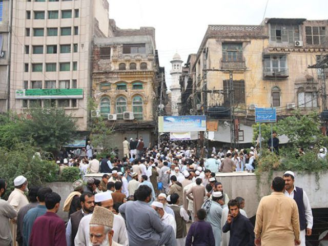 people rushed out of their houses photo muhammad iqbal express file