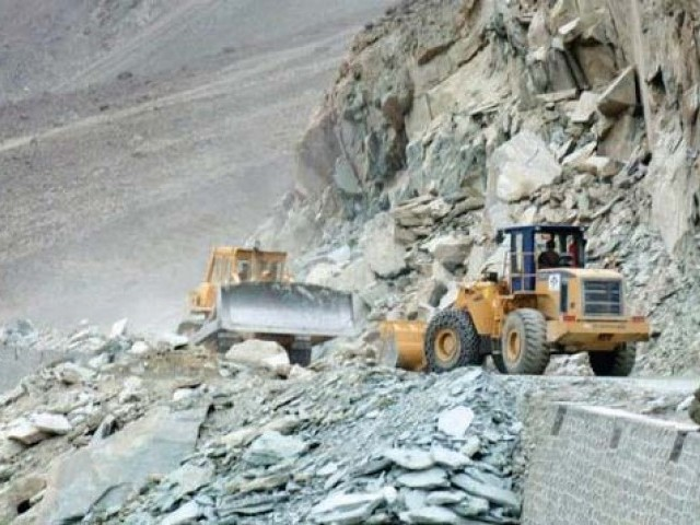 roads linking kohistan to g b china border and rest of country remain inaccessible photo express file
