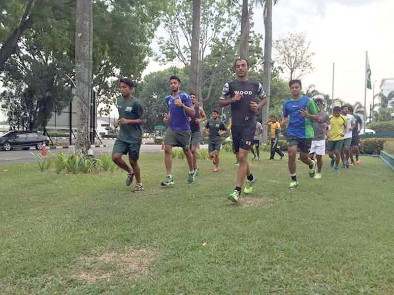 pakistan hockey team trains ahead of their crunch encounter against arch rivals india photo courtesy malaysian hockey confederation