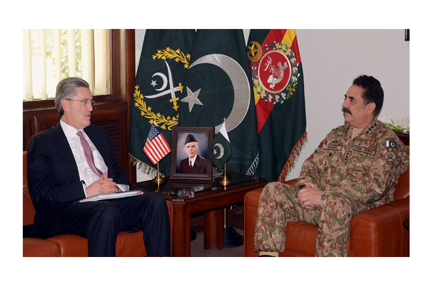 the ghq meeting between gen raheel and ambassador olson discussed the prospects of afghan peace process photo inp