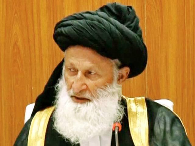 chairman council of islamic ideology maulana muhammad khan sheerani photo file