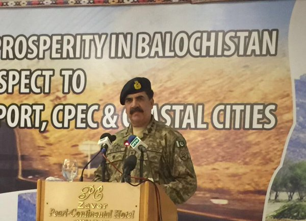 coas general raheel sharif addresses a seminar on cpec in balochistan on tuesday photo ispr
