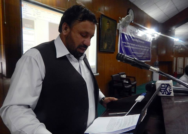 khyber pakhtunkhwa finance minister muzaffar said photo sdpi