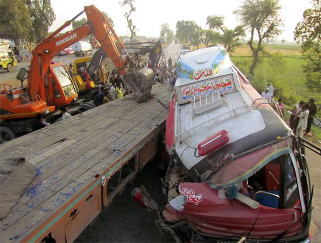 11 others sustained injuries as a passenger bus collided with a tractor trolley photo file