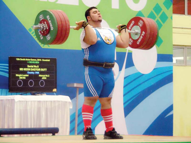 nooh who has five gold medals to his name is hoping to add an olympic gold to his tally photo courtesy pakistan weightlifting federation