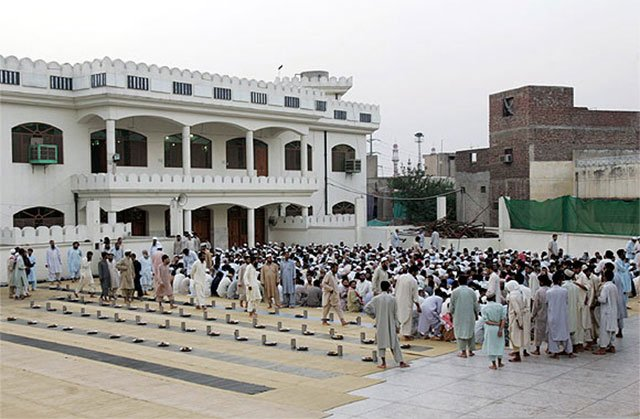 supporters of jud at their headquarter jamia qadsia lahore photo reuters