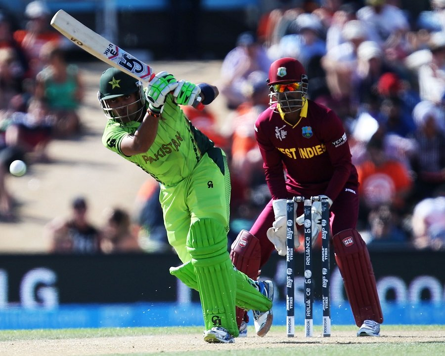 umar akmal playing a shot against west indies in world cup match in christchurch on february 21 2015 photo icc