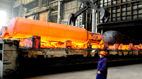 china steel output rises despite reduction pledges
