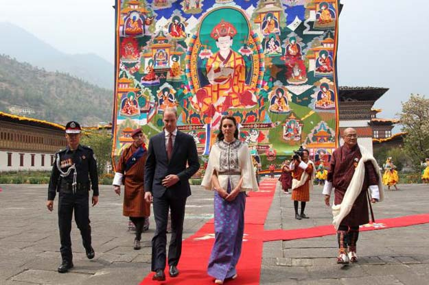 britain 039 s prince william 3rd l duke of cambridge and his wife catherine c duchess of cambridge visit the tashichho dzong in thimphu bhutan in this april 14 2016 handout photo by the bhutanese royal office photo reuters