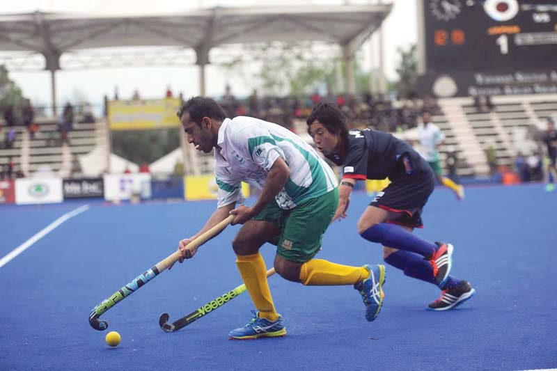 as impressive as it seems pakistan s 4 1 win didn t mean much as it came against minnows japan who have never beaten the greenshirts photo malaysian hockey confederation