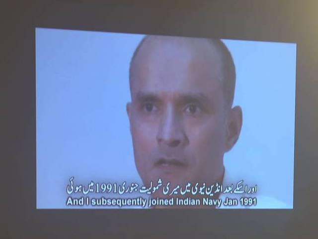 video shows kulbhushan yadav who is suspected of being an indian spy during a press conference in islamabad on march 29 2016 photo afp