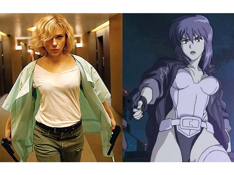 johansson will be seen essaying the role of major kusanagi in the upcoming anime remake photos file
