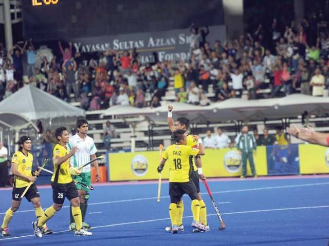 malaysia edged out the greenshirts by a solitary goal with pakistan s forwards missing nearly half a dozen goal scoring opportunities photo courtesy malaysian hockey confederation
