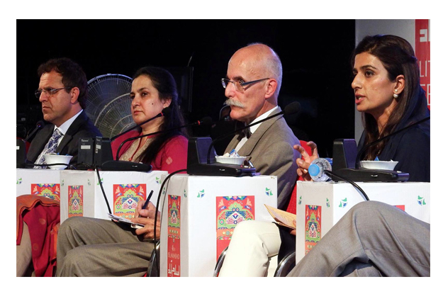 former foreign minister hina rabbani khar speaks on quot discussion on regional connectivity and stability quot during 2nd day of ilf 2016 photo inp
