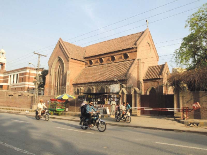 the admin says the saint andrew s presbyterian church will be restored to its original design once construction work is complete photos abid nawaz express