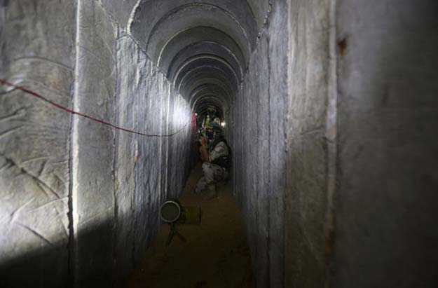 the tunnels toward egypt are generally used for smuggling into and out of the gaza strip which is under an israeli blockade photo afp