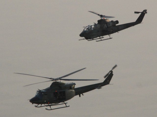 file photo of gunship helicopters photo ispr