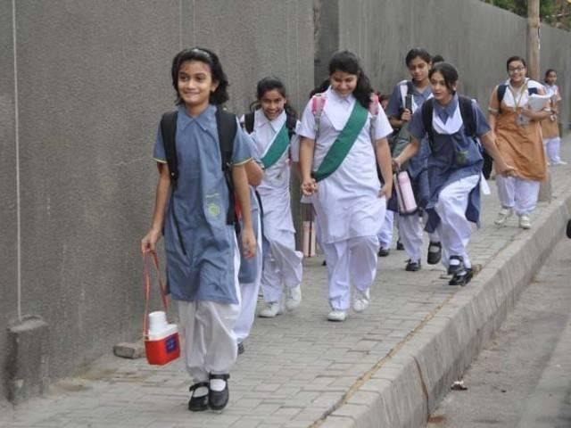 students seen going to school photo muhammad azeem express