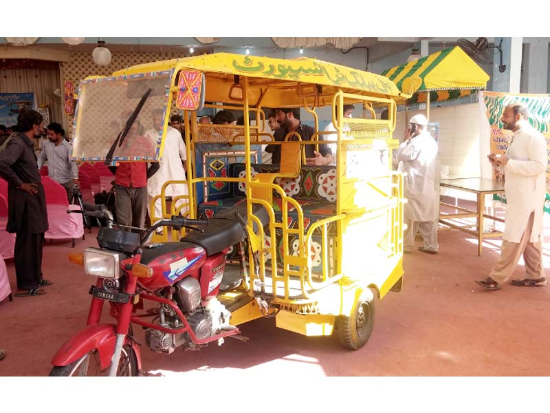 the new design of the motorcycle rickshaw has been approved by the provincial transport authority photo express