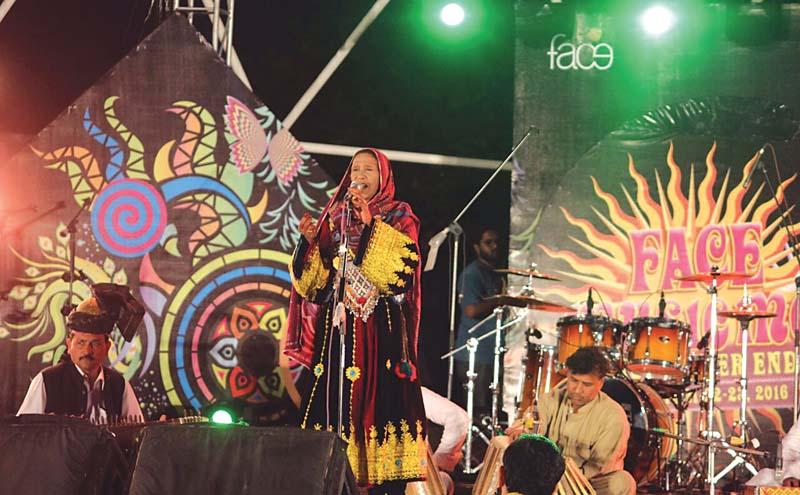 zarsanga performs at the three day music festival photo muhammad javaid express