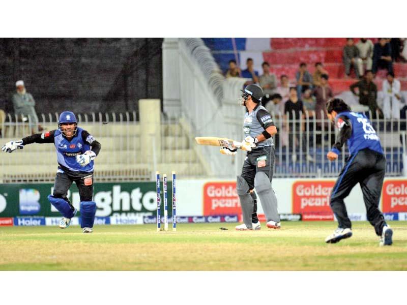 fawad alam takes umar akmal s wicket photo express