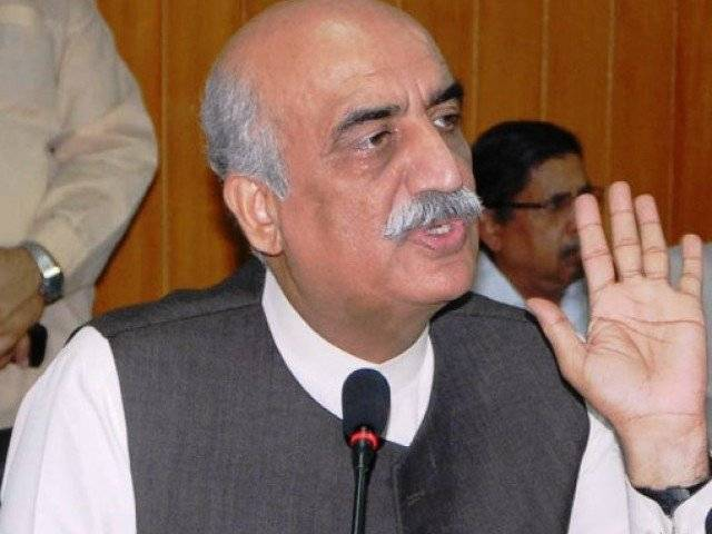 leader of the opposition in the national assembly khursheed shah photo pid