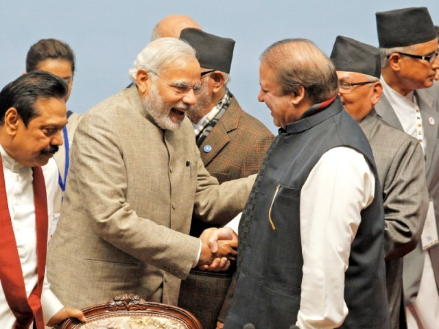 file photo of a meeting between prime minister nawaz sharif and indian premier narendra modi photo afp