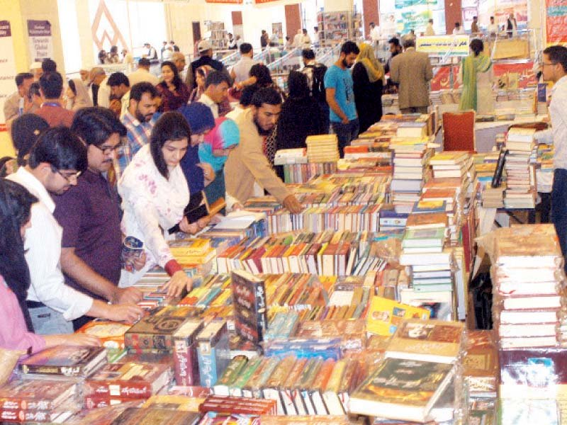 nbf said hundreds of thousands of book were sold during first two days of the festival photo waseem nazir express
