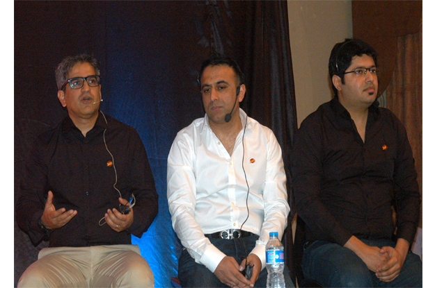 mobilink deputy chief executive officer aamir ibrahim addressing a press conference photo express