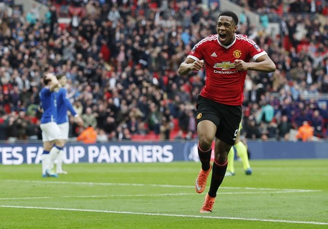 anthony martial celebrates scoring manchester united 039 s second goal photo reuters