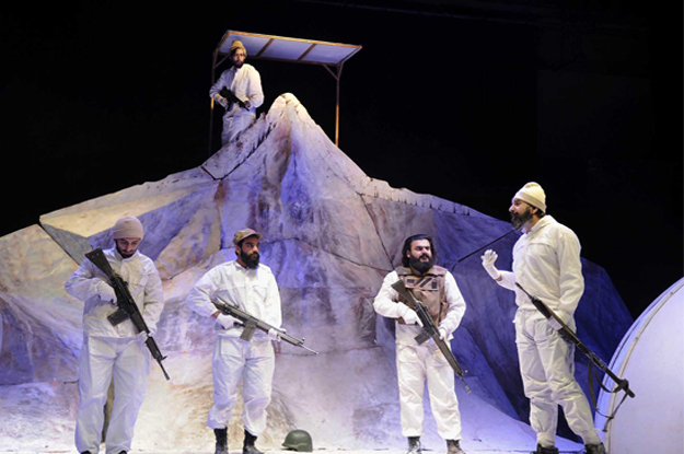 a soldier s story play on life at siachen opens in city