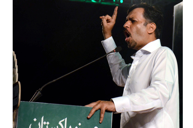 mustafa kamal addressing to supporters during public gathering held at bagh e jinnah in karachi photo ppi