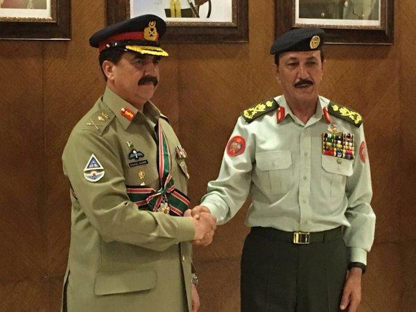 army chief met jordanian leaders on monday photo ispr