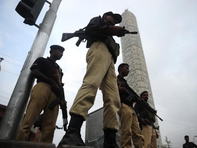 a file photo of karachi police photo afp